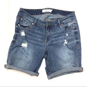 Torrid Women's Distressed Bermuda Jean Shorts 12